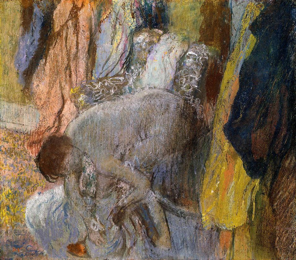 Edgar Degas. Woman washing feet