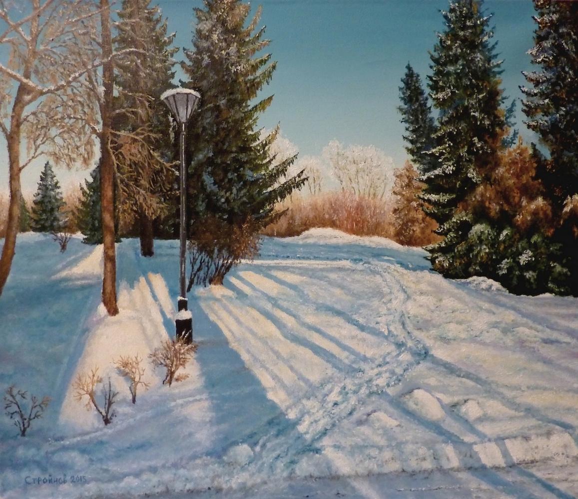 """Vitaliy Vadimovich Stroynov. """"In a snowy park."""""""