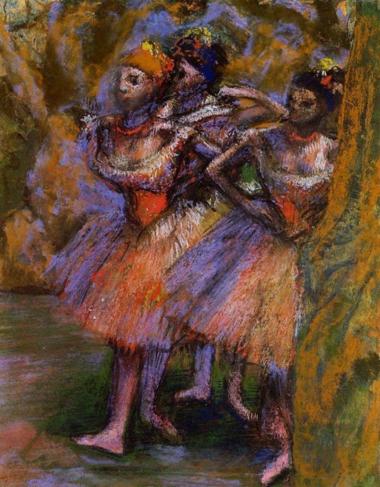 Эдгар Дега. Три балерины