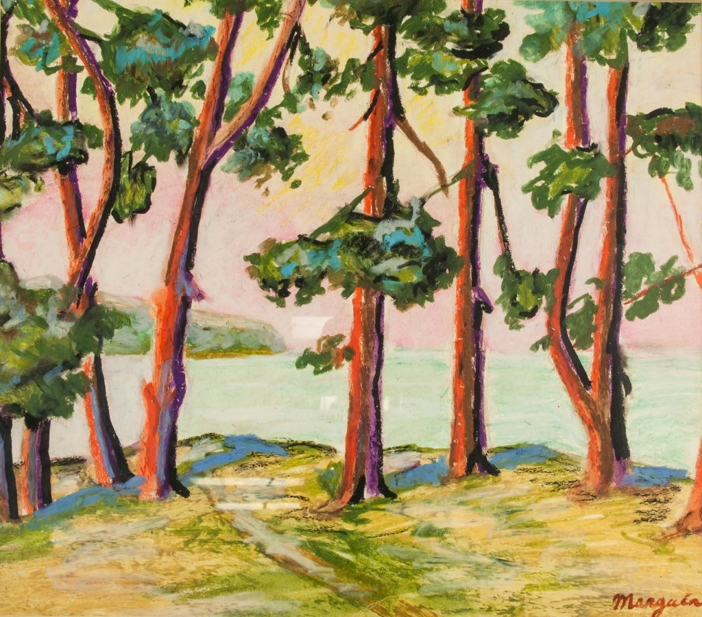 Henri Manguin. Tree at the lake