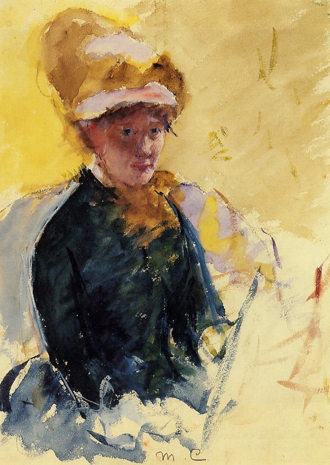 Мэри Кассат. Автопортрет
