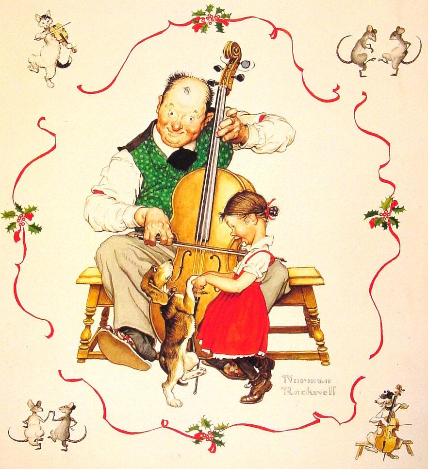 Норман Роквелл. Рождественский танец