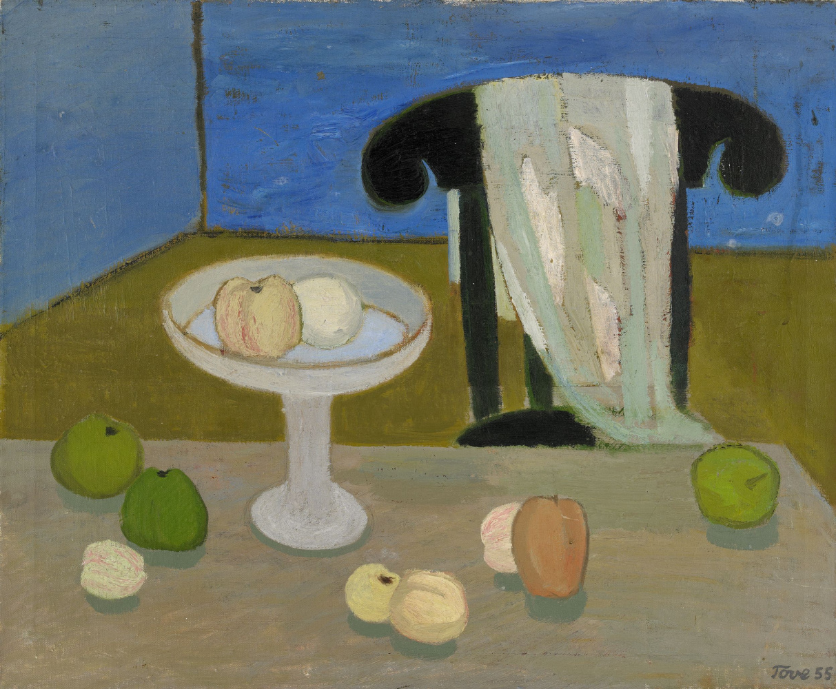 Tove Jansson. Still life with fruit on the table