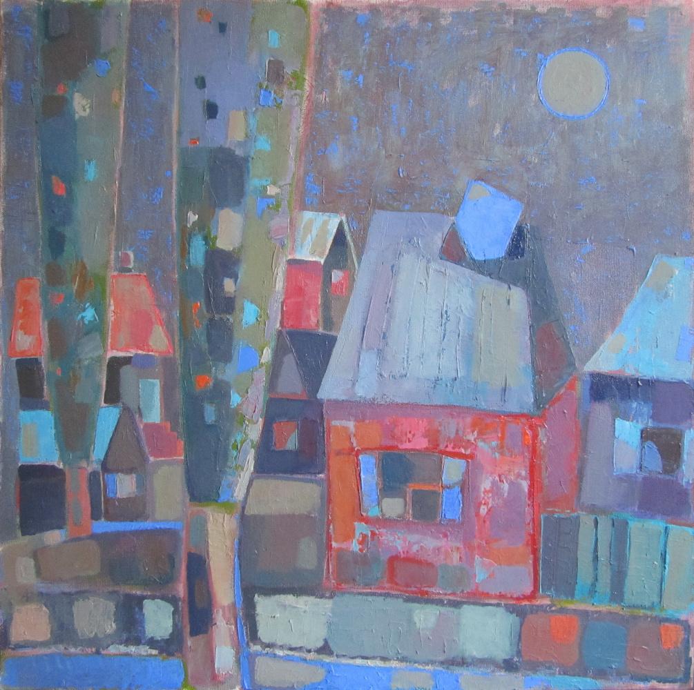 Elena Valeryevna Shipilova. Landscape with a blue trumpet