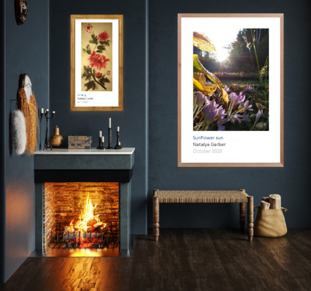 """Natalya Garber. The flowers are warm. Painting and photography of meanings for the fireplace room, foundry and creative space """"with a twinkle"""""""
