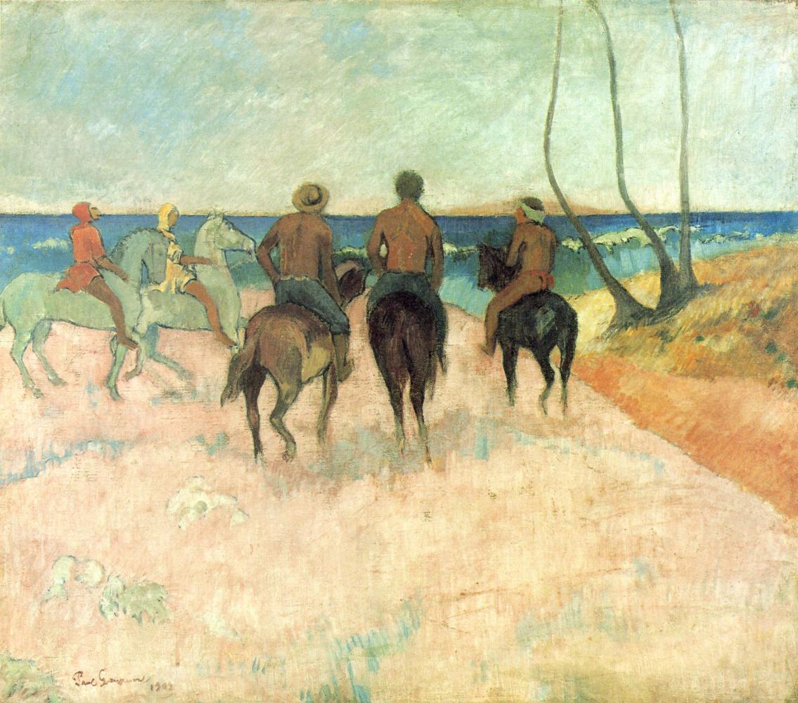 Поль Гоген. Всадники на побережье