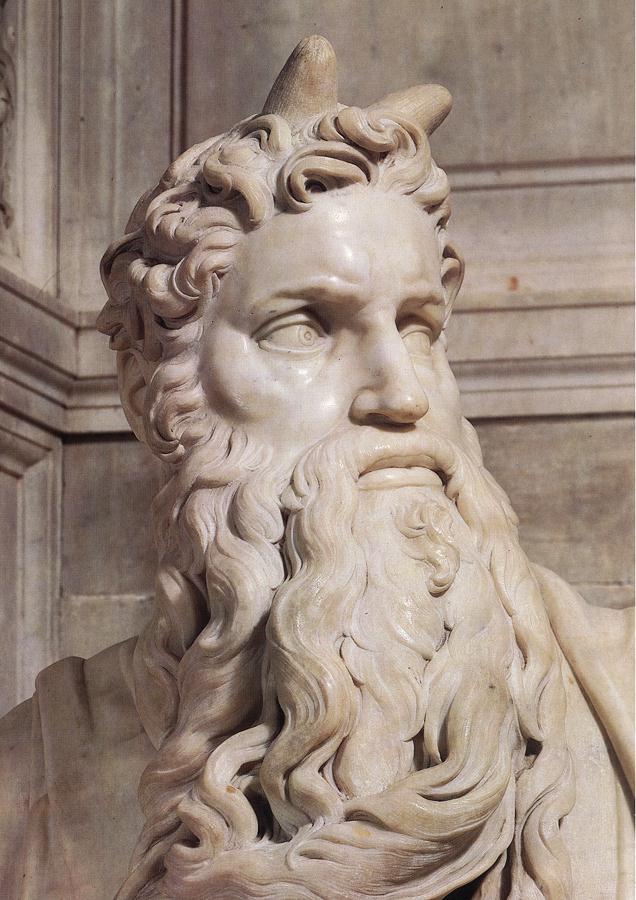 Микеланджело Буонарроти. Гробница папы Юлия II. Моисей (детали).
