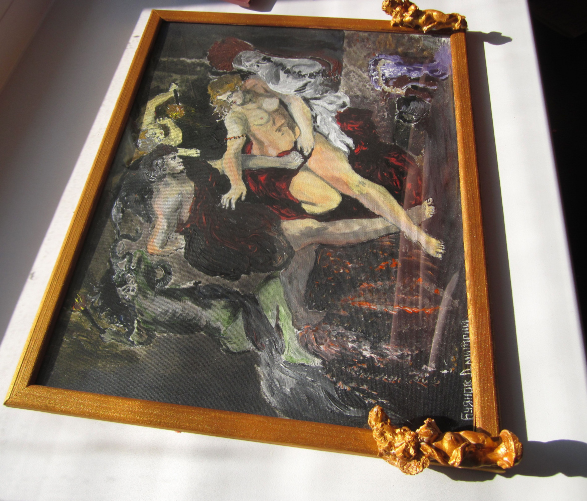"Дмитрий Юрьевич Буянов. A free copy of the painting by Peter Paul Rubens""Tarquinius and Lucretia"""