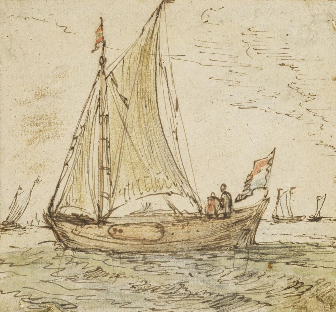 Hendrik Avercamp. Fishing in the sea
