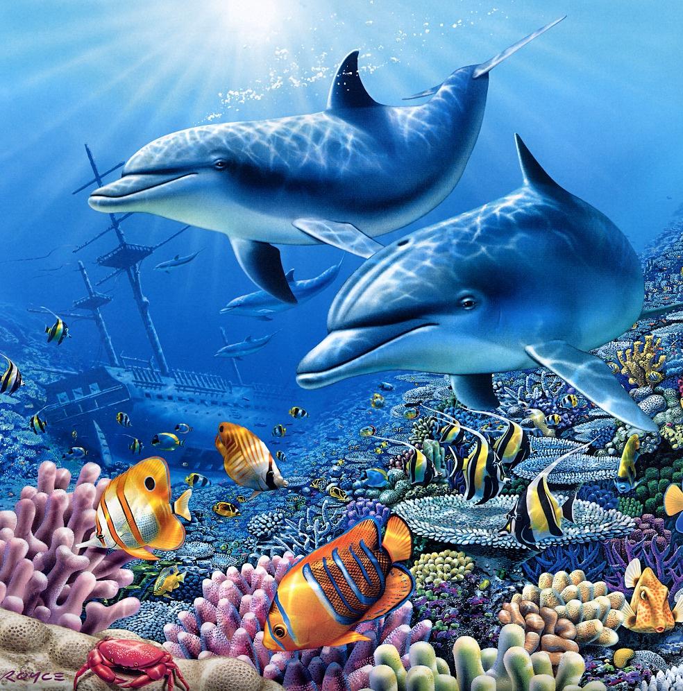 известны картинки для декупажа морские животные редкой золотой