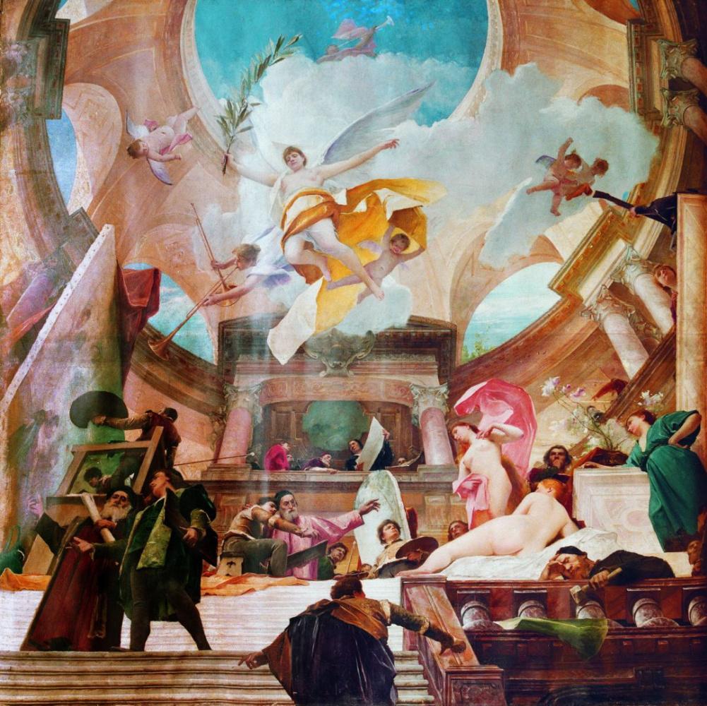 Михай Либ Мункачи. Апофеоз Ренессанса. Живопись с фрески росписи Венского музея истории искусств