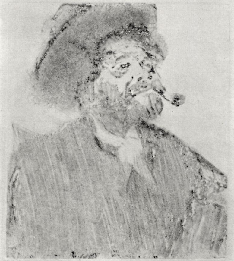 Эдгар Дега. Мужчина с трубкой (Гравер Марселлен Дебутен)