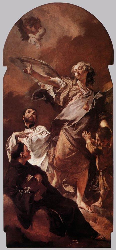 Джованни Баттиста Пьяццетта. Ангел-хранитель со святыми Антонием Падау И Гаэтано Тьене