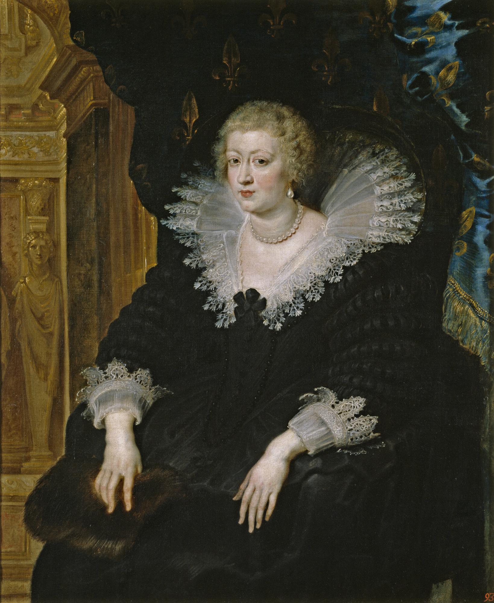Питер Пауль Рубенс. Портрет Анны Австрийской, королевы Франции