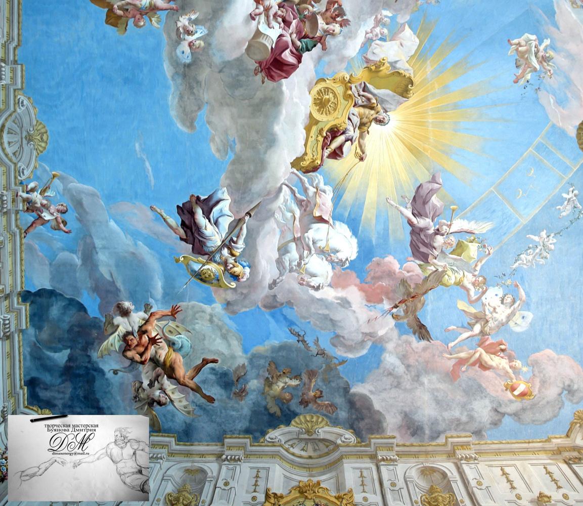 Дмитрий Юрьевич Буянов. Artistic painted ceiling