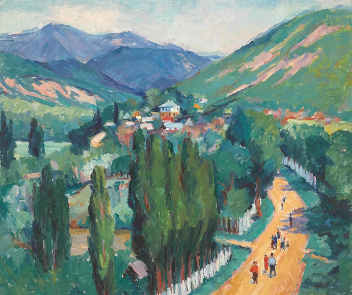 Maria Markovna Dzhagupova. Mountain landscape
