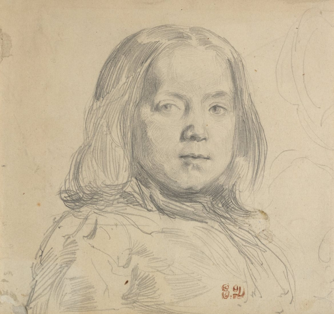 Eugene Delacroix. Portrait of a child