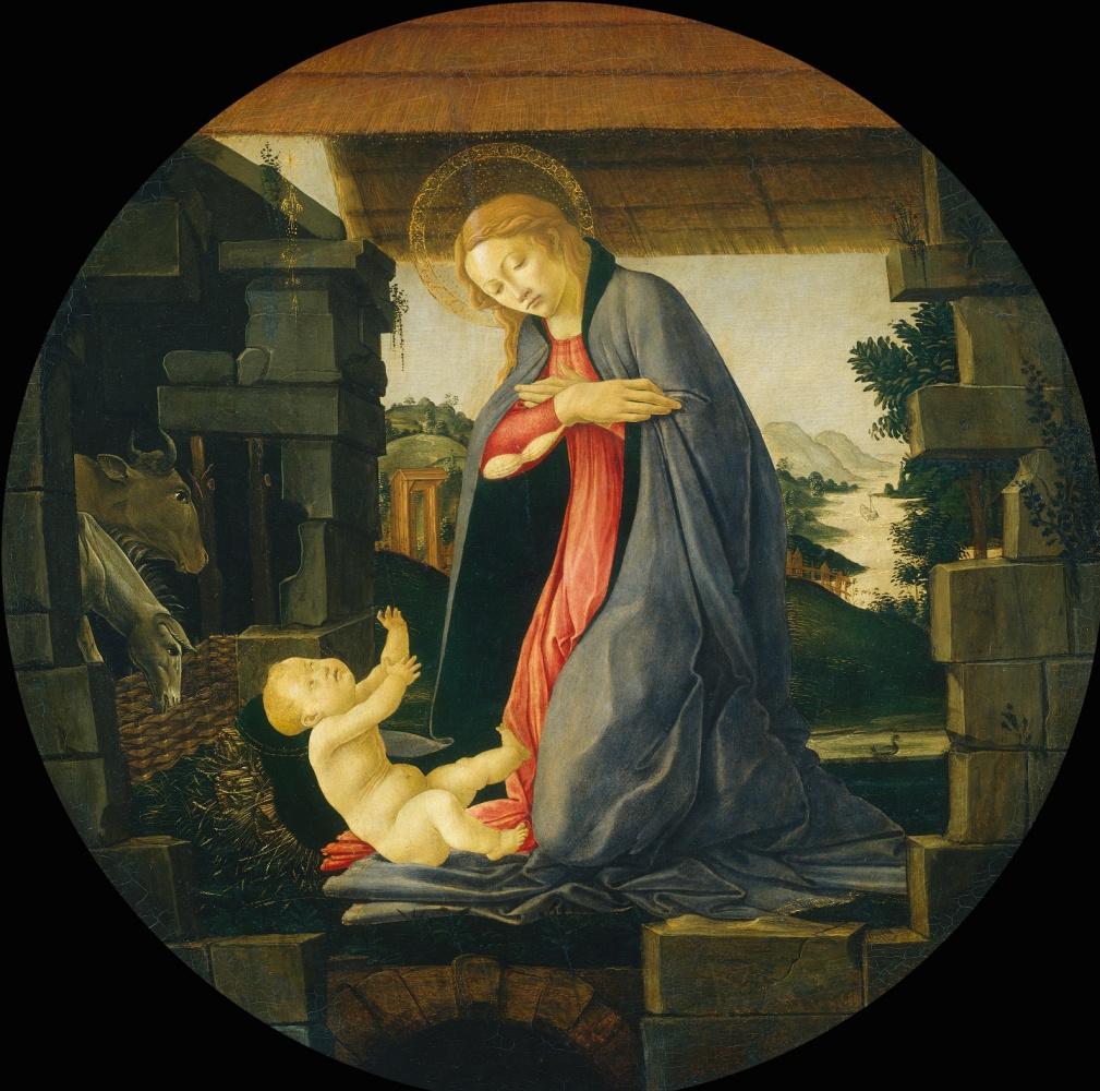 Сандро Боттичелли. Дева поклоняется ребенку