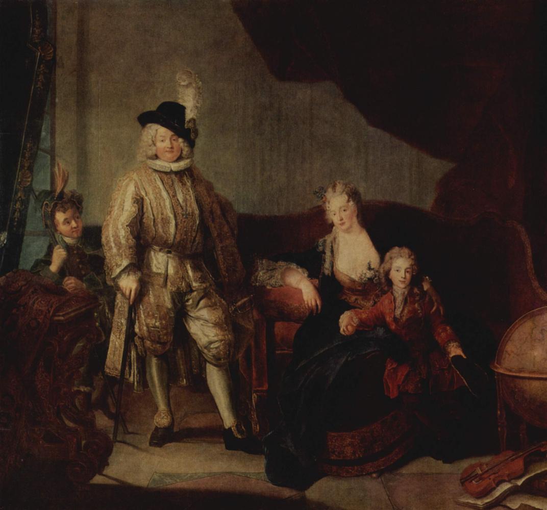 Антуан Пен. Семейный портрет барона фон Эрлаха