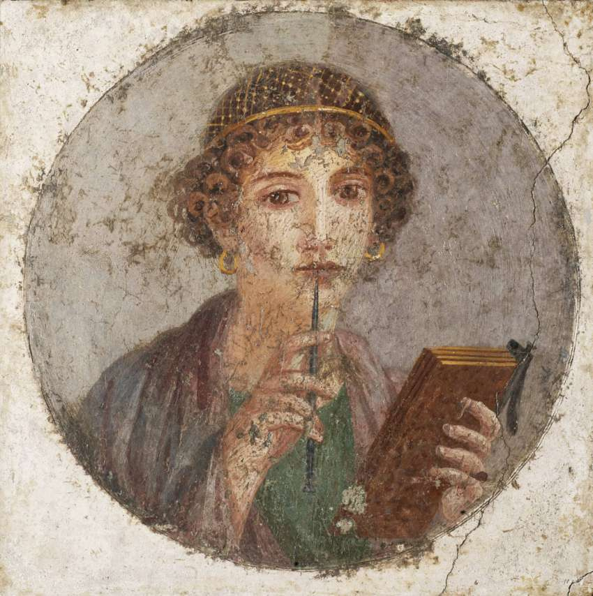 Masterpieces of unknown artists. Portrait of a young girl (Portrait of the poetess Sappho?)