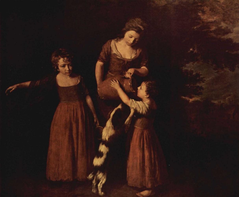 John Opie. Peasant family