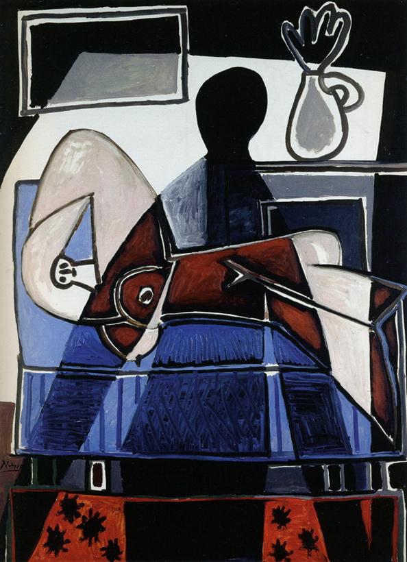 Пабло Пикассо. Тень, падающая на женщину