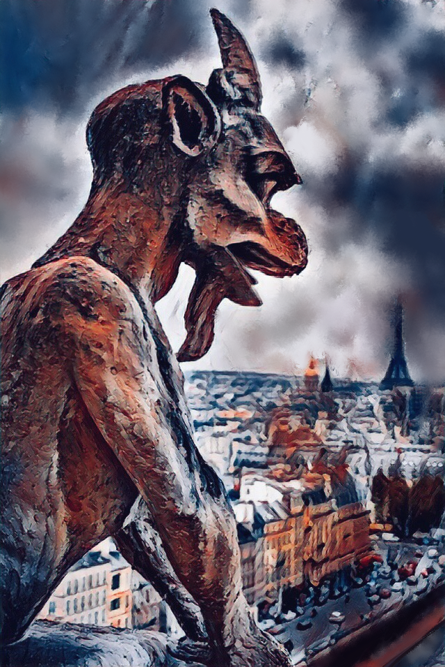 Konstantin Borisovich Druzhinin. Gargoyle Notre Dame