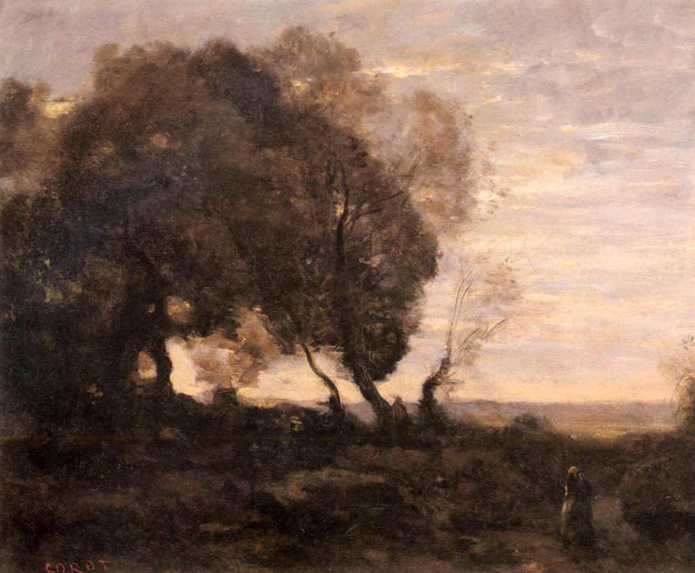 Камиль Коро. Деревья на Крите