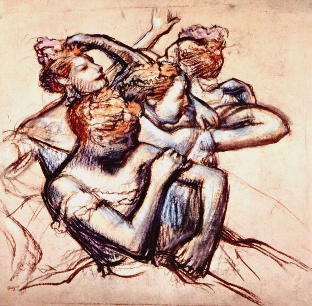 Edgar Degas. A group of ballerinas