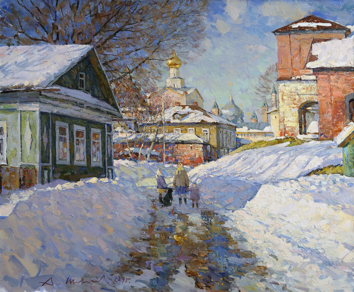 Alexander Victorovich Shevelyov. March in Rostov the Great. Oil on canvas 60.5 x 70.5 cm. 2019