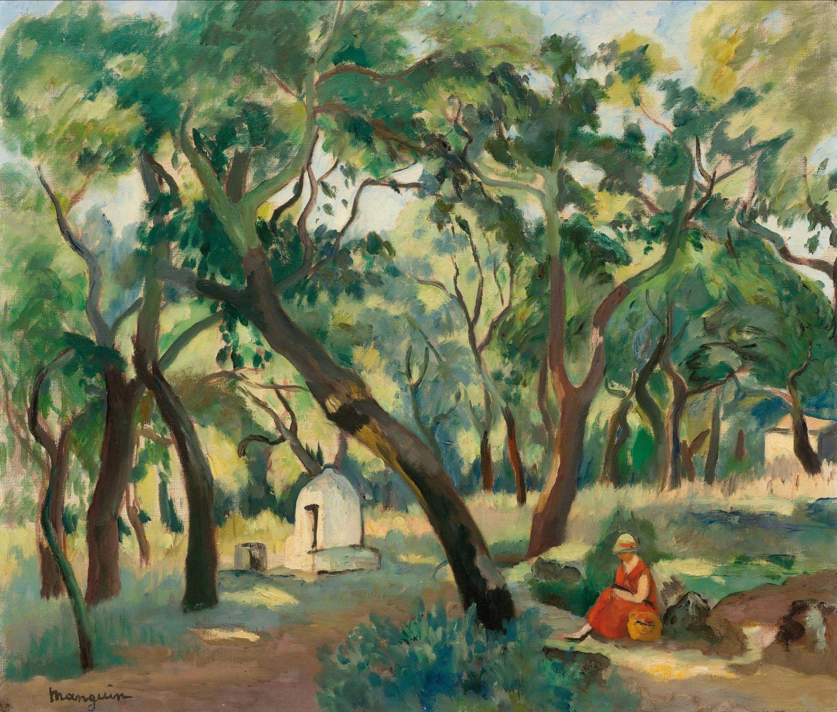 Henri Manguin. In the woods in early autumn