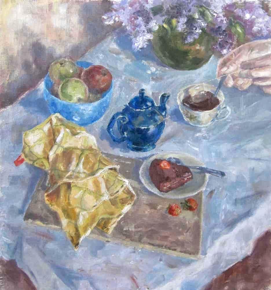 Christina Shchekina. Still life. Breakfast
