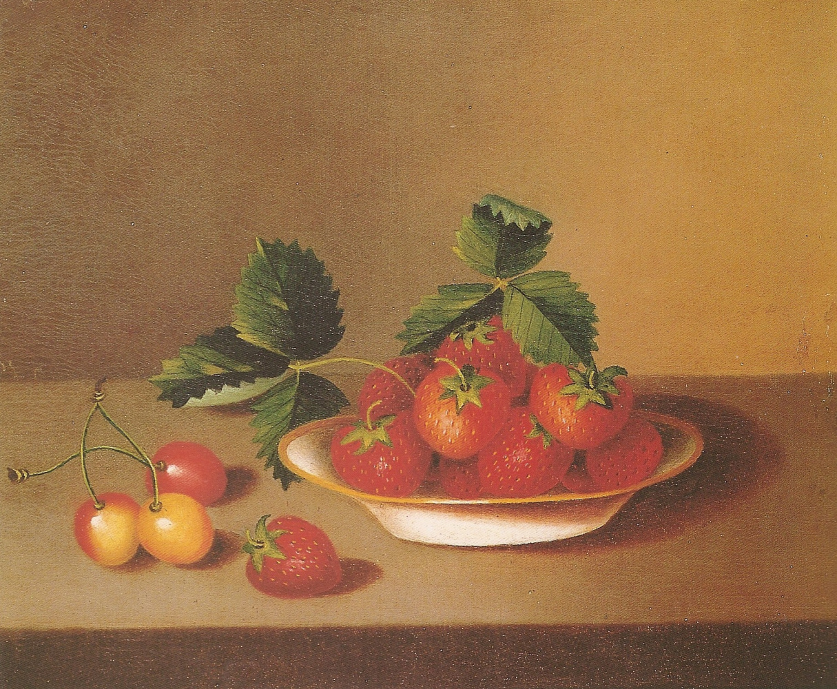Margaretta Angelica Peel. Натюрморт с клубникой и вишней