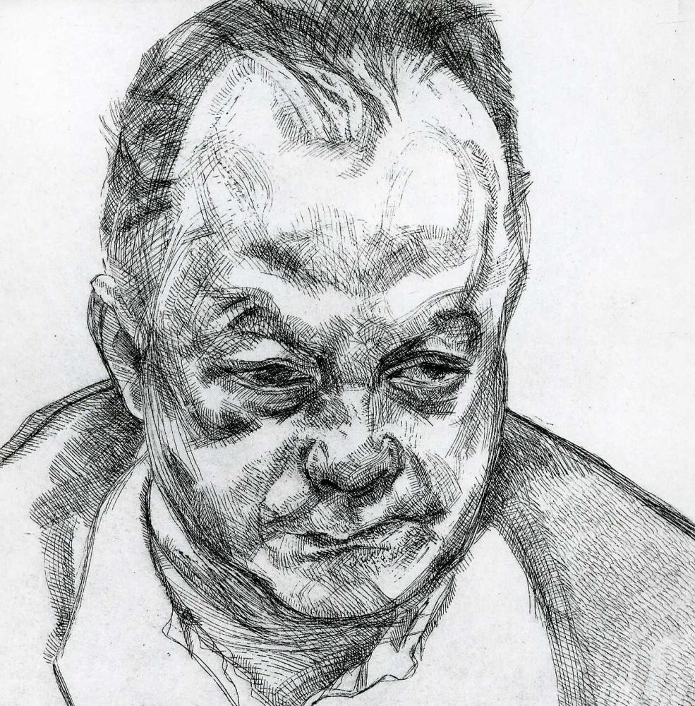 Lucien Freud. Bruce Bernard Head