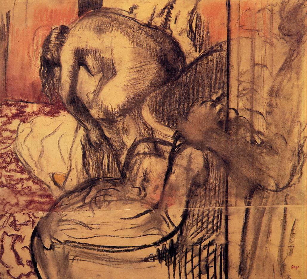 Edgar Degas. After the bath