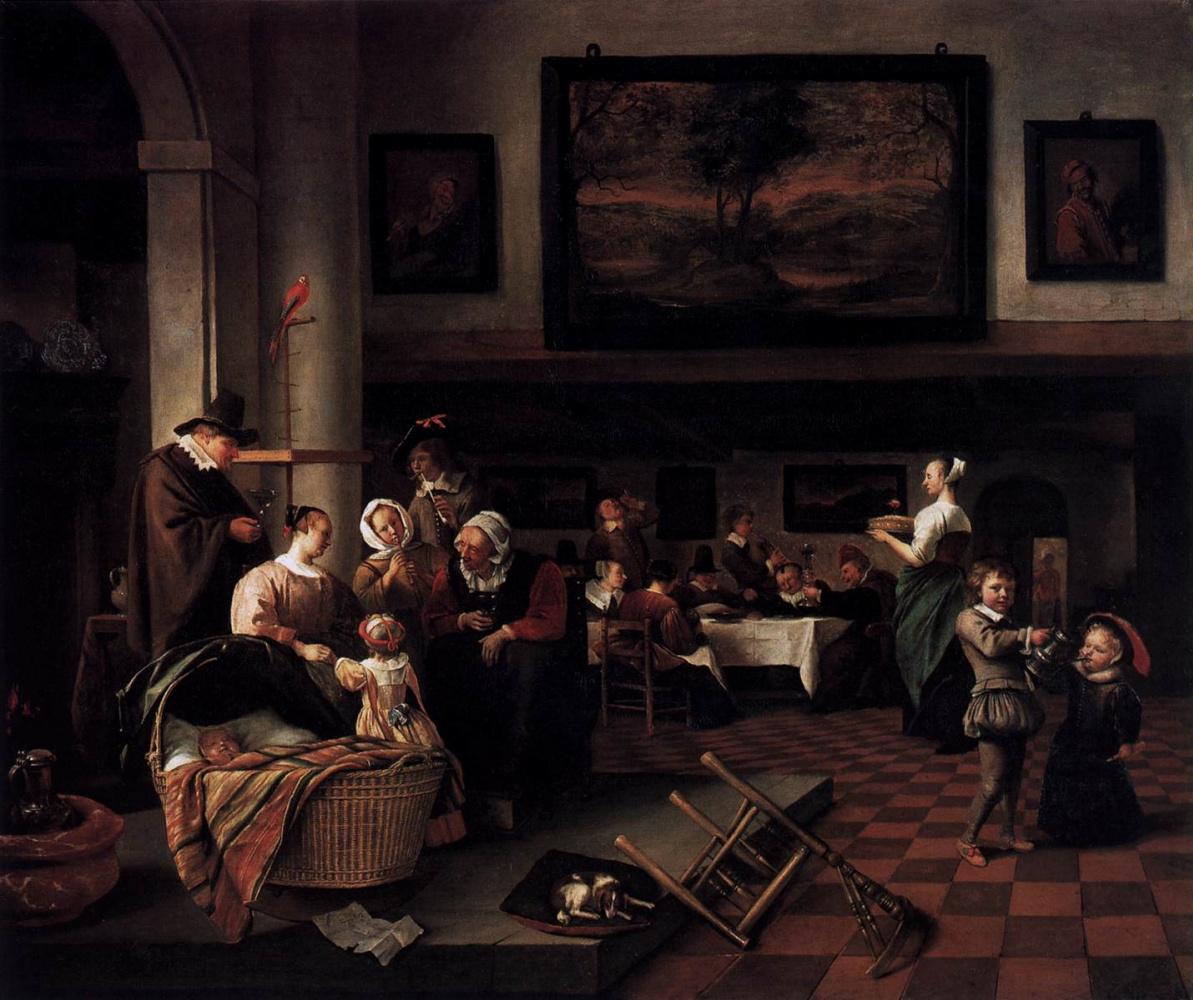 Jan Steen. Baptism
