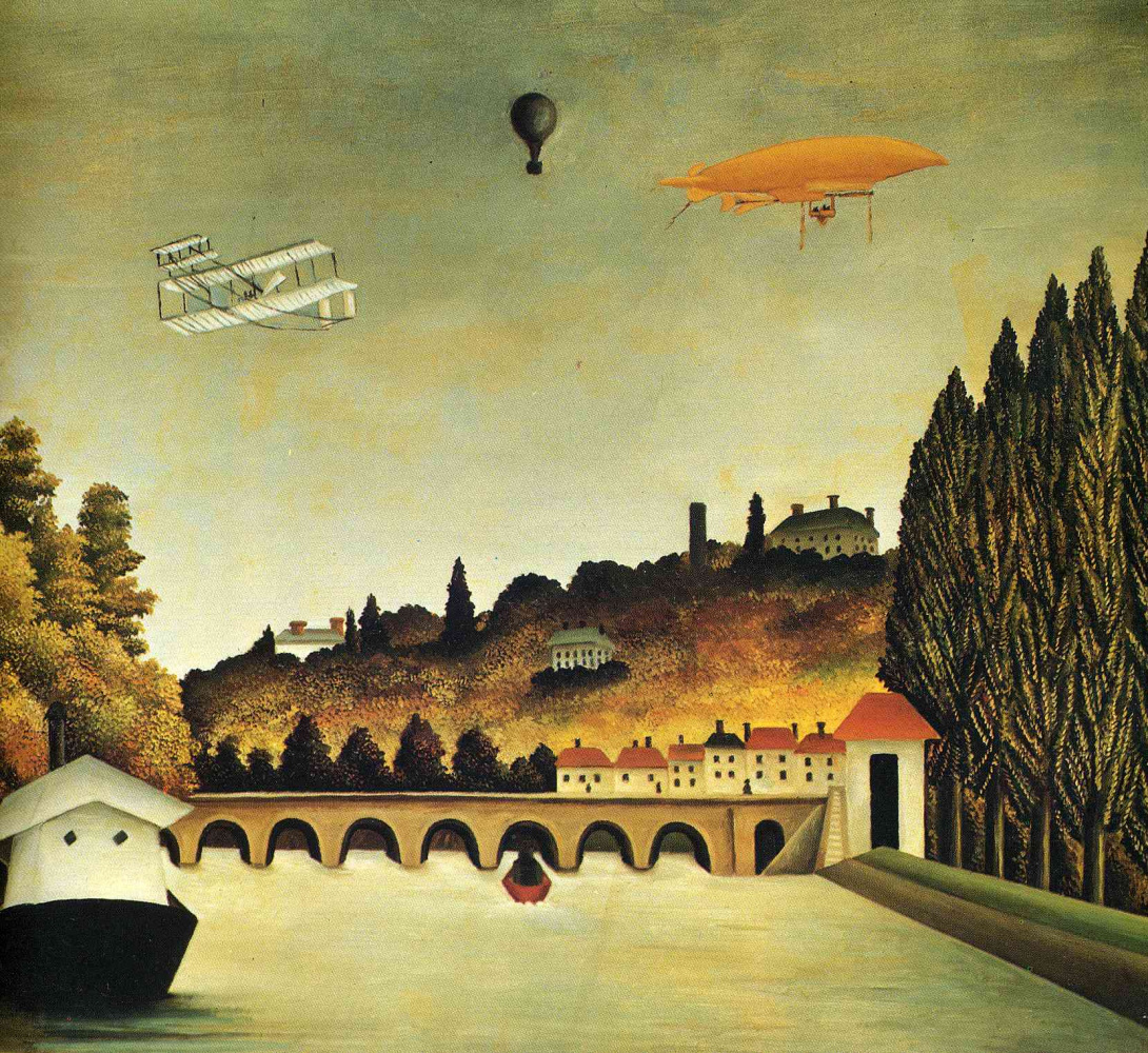 Henri Rousseau. A view of the bridge at Sevres