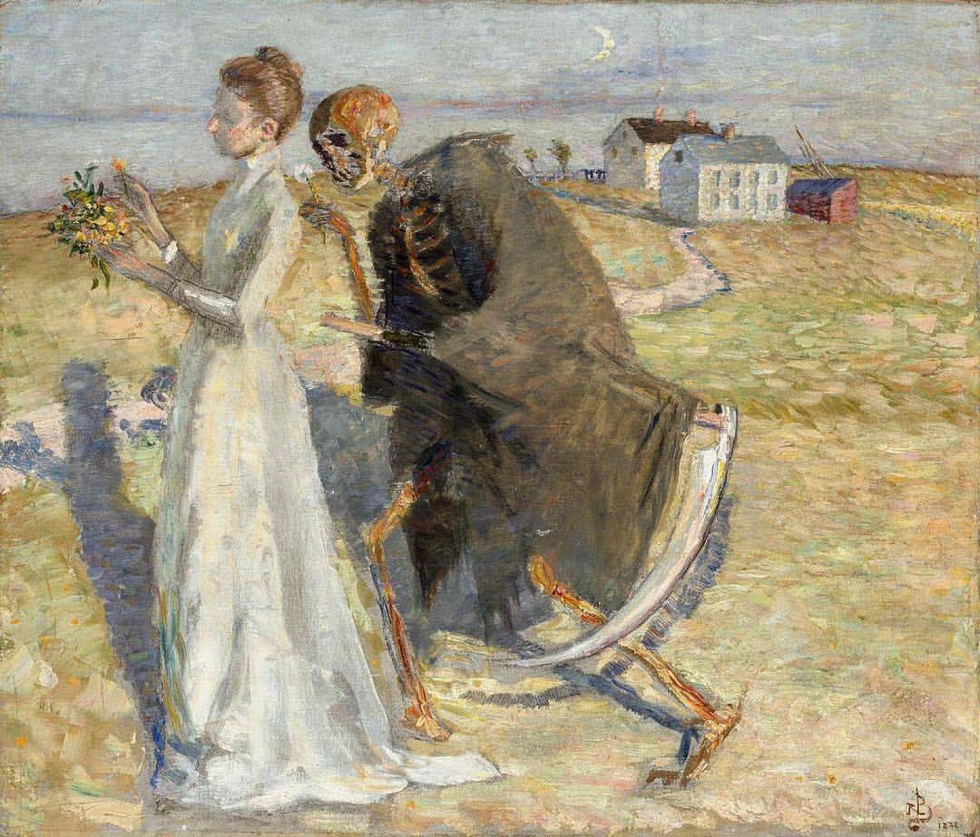Sven Richard Berg. Girl and death.