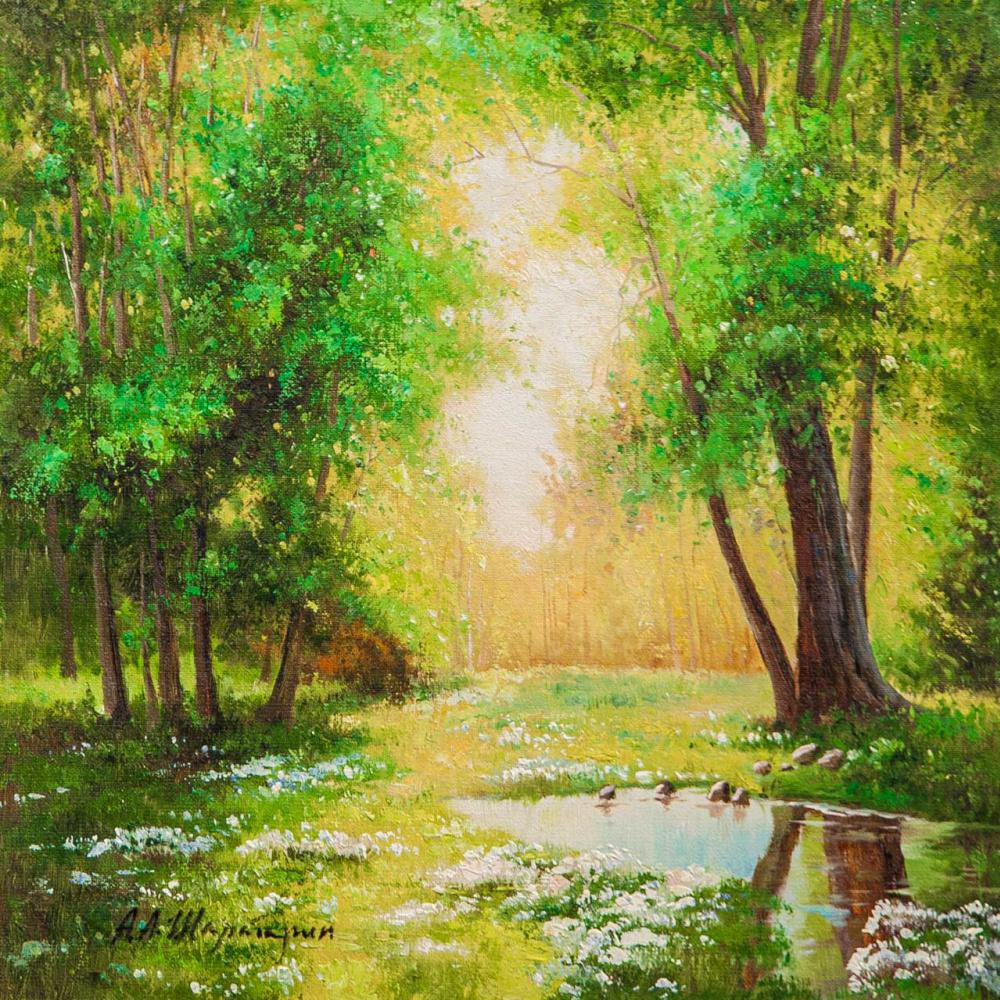 Andrey Sharabarin. В летний день у лесного ручья