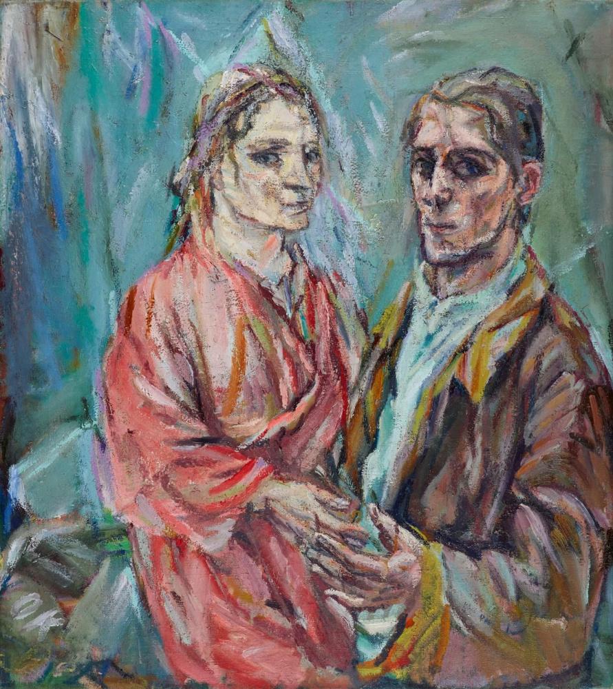 Oskar Kokoschka. Double portrait: Oscar Kokoshka and Alma Mahler