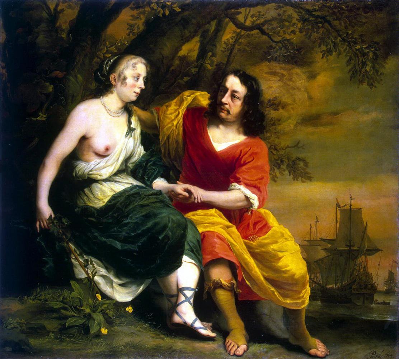 Фердинанд Балтасарс Боль. Портрет виноторговца и его жены в виде Вакха и Ариадны