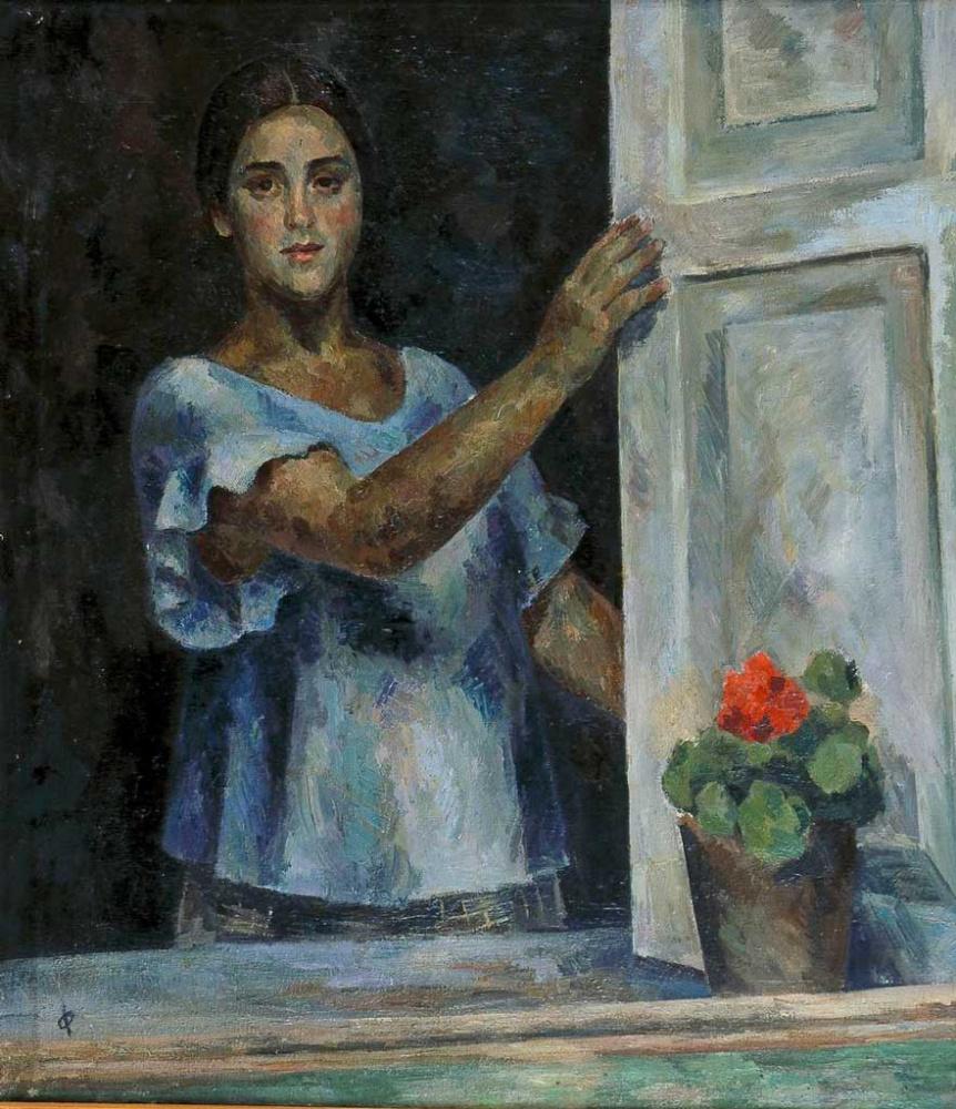 Роберт Рафаилович Фальк. Девушка у окна (Раиса Идельсон)