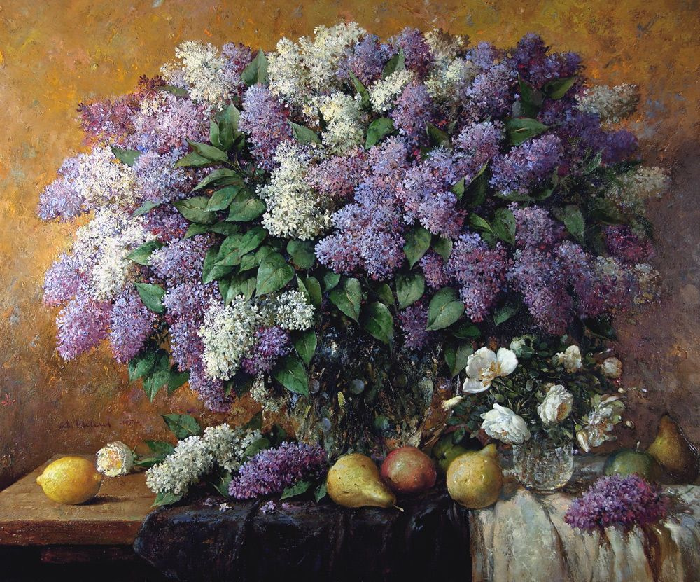 Alexander Shevelyov. Lilac. Oil on canvas 80,5 x 100,5 cm 2005