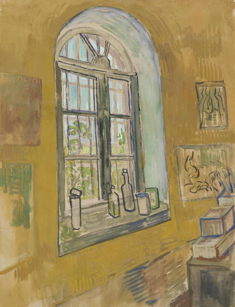 Vincent van Gogh. The window of the asylum