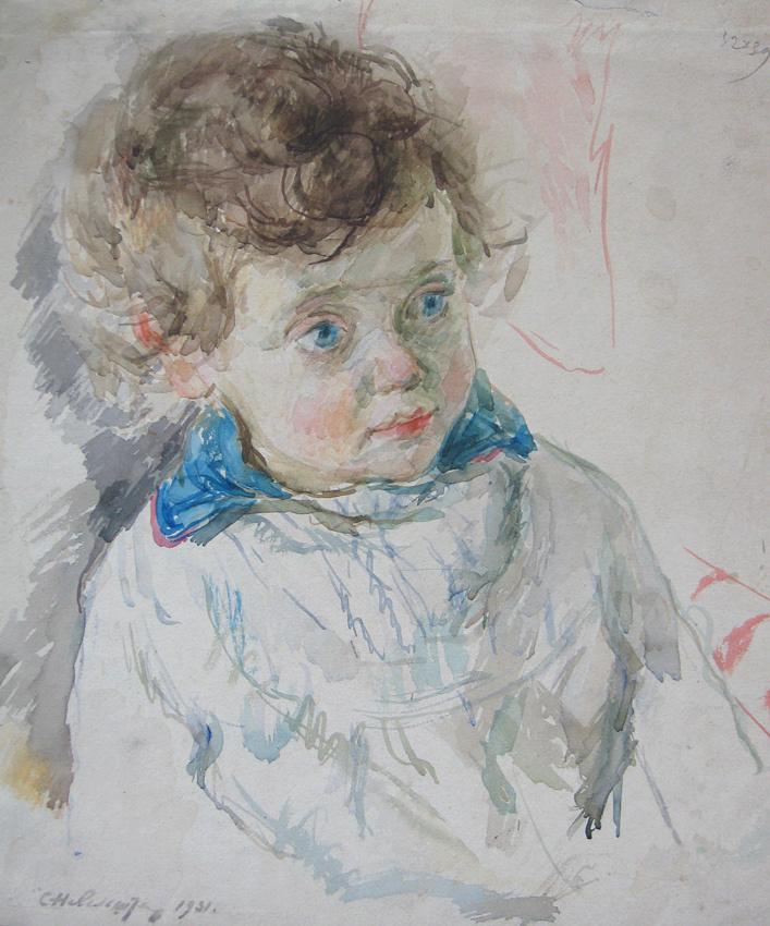 Samuil Grigorievich Nevelstein. Portrait of a son.