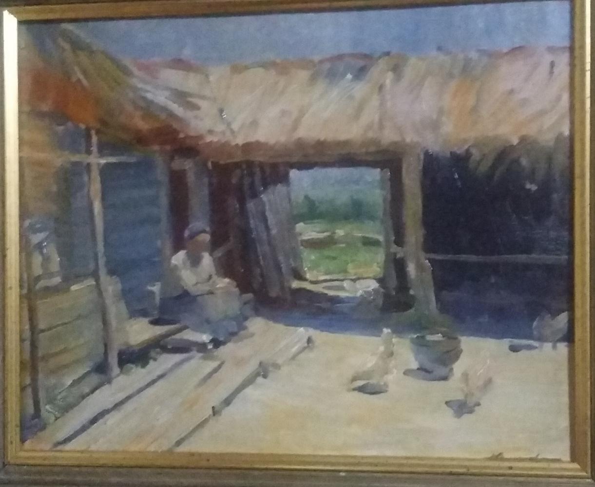 Nikolay Aleksandrovich Sergeev. Peasant courtyard