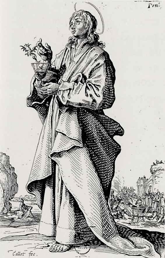 Жак Калло. Иоанн Евангелист