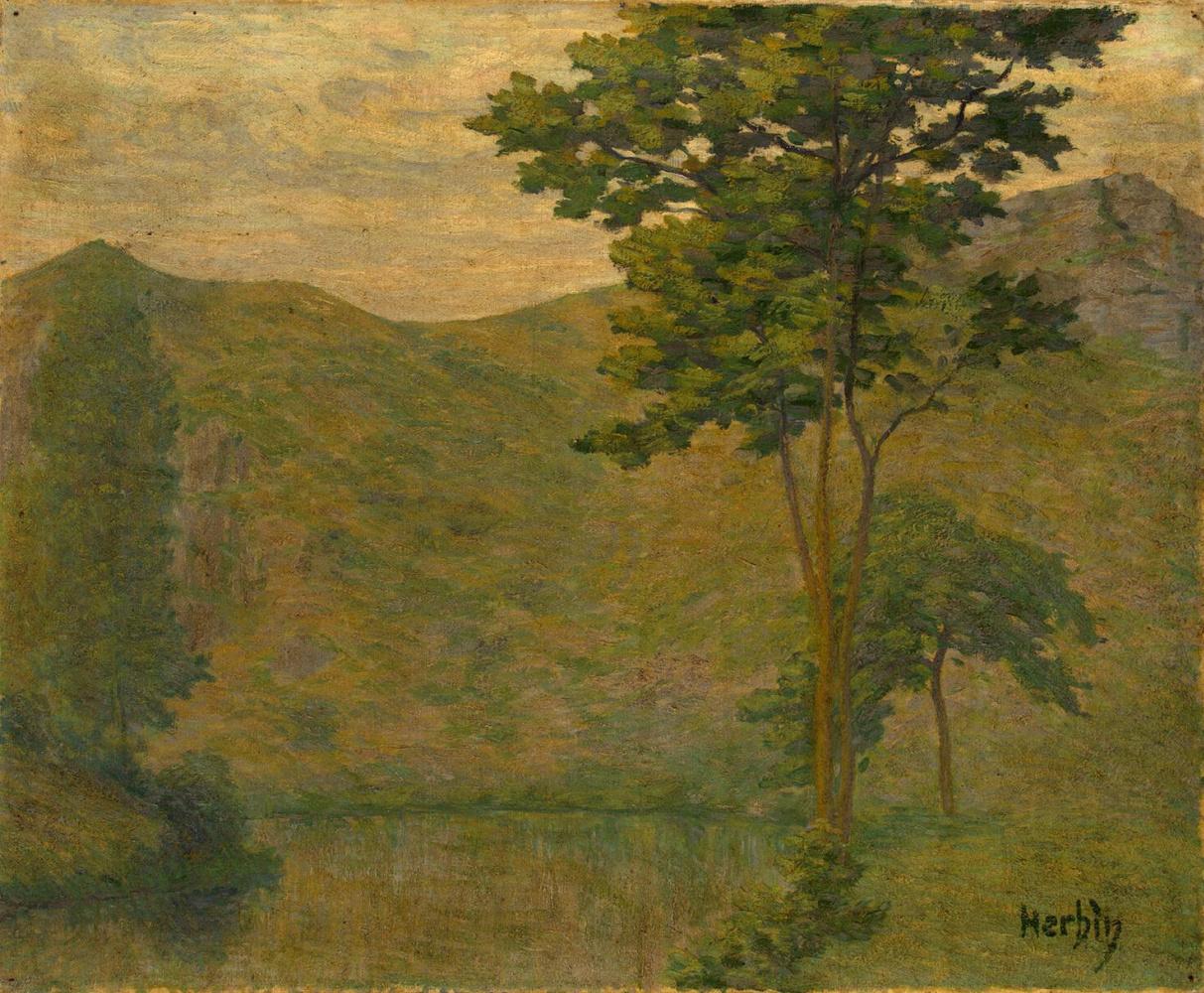 Auguste Erben. Green landscape