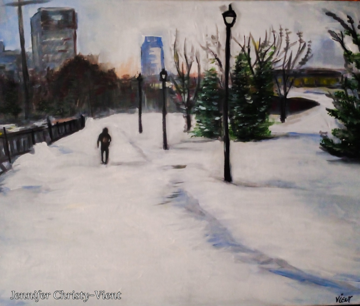 Jennifer Christy-Vient. A Walk in the Russian Winter