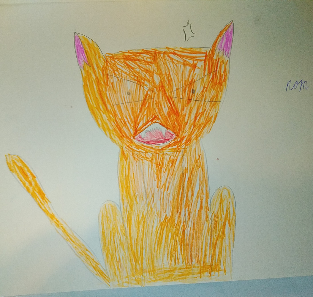 Zina Vladimirovna Parisva. Angry cat
